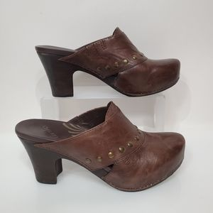 Dansko Rudy Leather Heeled Clogs